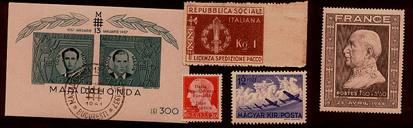 Axis Postage stamps