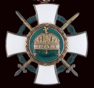 Hungarian Order of the Holly Crown with Swords