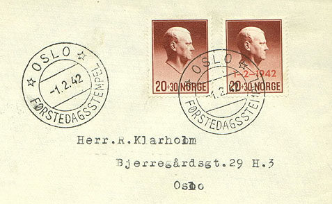 Norwegian Quisling Stamp